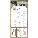 MTHS038 Stampers Anonymous Tim Holtz Layering Stencil - Mini Stencil Set #38